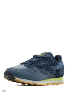 Кроссовки CL LEATHER SM       NAVY/BRAVE BLUE/SKUL Reebok