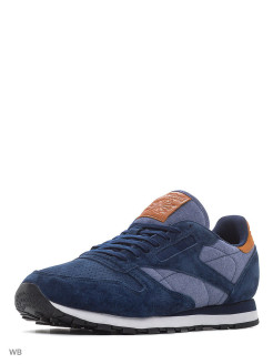 Кроссовки Cl Leather Ch    Collegiate Navy/Whit Reebok