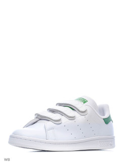 Кроссовки Stan Smith Cf    Ftwwht/Ftwwht/Green Adidas