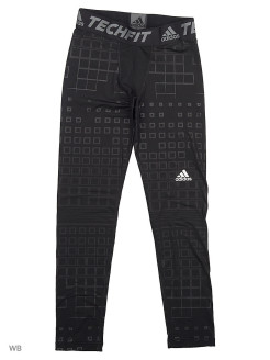 Тайтсы с принтом дет спорт YB TF WM TIGHT  BLACK/MSILVE adidas