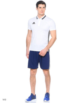 Поло Con16 Cl Polo White/Black Adidas