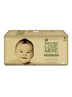 Подгузники original Basic Diaper S (4-7 кг) 52 шт. Nature Love Mere
