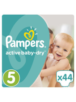Подгузники Pampers Active Baby-Dry 11-18 кг, 5 размер, 44 шт. Pampers