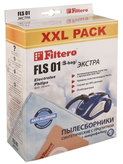 Vacuum cleaner bag, 8 pieces, FLS 01 Filtero