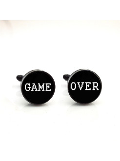 Запонки  гейм овер Game over Churchill accessories