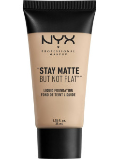 Матирующая тональная основа. STAY MATTE BUT NOT FLAT LIQUID FOUNDATION - PORCELAIN NYX PROFESSIONAL MAKEUP