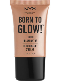 Хайлайтер для лица и тела. BORN TO GLOW LIQUID ILLUMINATOR - PURE GOLD 03 NYX PROFESSIONAL MAKEUP