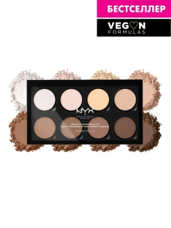"Палетка для контурирования ""Highlight & Contour PRO Palette"", 206 г NYX PROFESSIONAL MAKEUP"