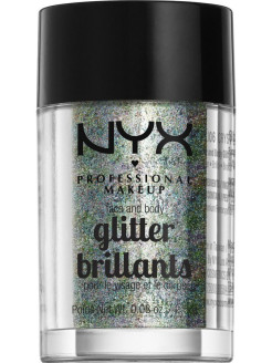 Глиттер для лица и тела. FACE & BODY GLITTER - CRYSTAL 06 NYX PROFESSIONAL MAKEUP