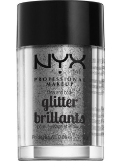 Глиттер для лица и тела FACE & BODY GLITTER - SILVER 10 NYX PROFESSIONAL MAKEUP