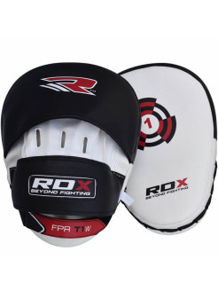 Лапы White/Black With Strap (пара) RDX
