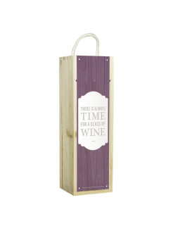 "Подарочная коробка для вина ""There is always time for a glass off wine"" Contento"