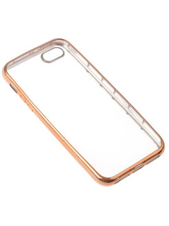 Накладка  skinBOX silicone chrome border 4People для Apple iPhone 5/5S/5SE skinBOX