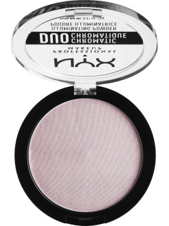 Сухой хайлайтер ДУО ХРОМАТИК DUO CHROMATIC ILLUMINATING POWDER - LAVENDER ST 02 NYX PROFESSIONAL MAKEUP