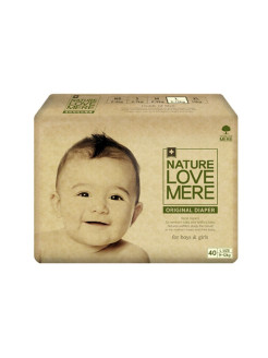 Подгузники original Basic Diaper L (9-12кг) 40шт. Nature Love Mere