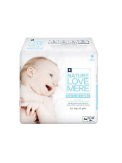 Подгузники slim Premium Diaper XL (12+ кг) 34шт Nature Love Mere