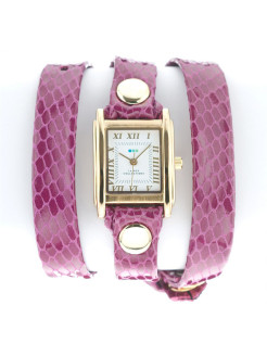 Часы La Mer Collections Simple Magenta snake La Mer Collections