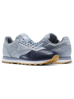 Кроссовки CL LEATHER LS       METEOR GREY/CLLG NAV Reebok