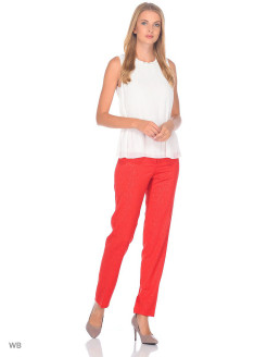 Trousers for women color red GALANT