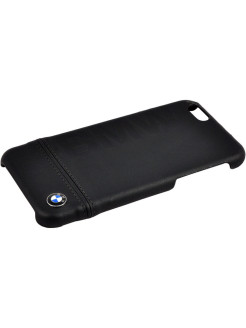 Чехол BMW для iPhone 6/6S Logo Imprint Hard Leather Black BMW
