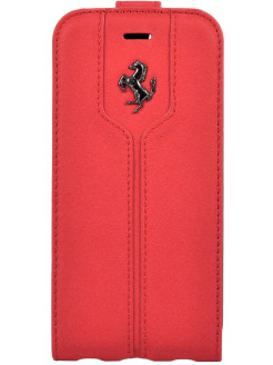 Чехол Ferrari для iPhone 7 Montecarlo Flip Leather Red FERRARI