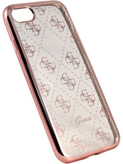 Чехол Guess для iPhone 7 4G Transparent Hard TPU Rose gold GUESS