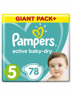 Подгузники Pampers Active Baby-Dry 11-16 кг, размер 5, 78 шт. Pampers