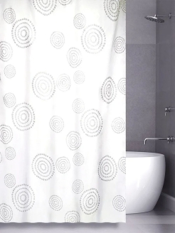 Штора для ванной (Counter Circle) White 180*180 Bath Plus