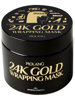 Маска для лица с 24-каратным золотом PIOLANG 24k GOLD WRAPPING MASK, 80 мл ESTHETIC HOUSE