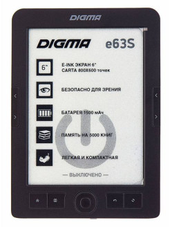 Электронная книга E63s Dark Grey DIGMA