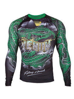 Рашгард Crocodile Black/Green L/S Venum
