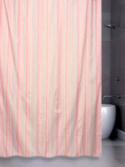 Штора д/в (STRIATURE) rose 180*180 Bath Plus