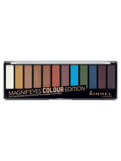 Палетка из 12 оттенков для век Magnifeyes Palette, тон 004 Color Edition Rimmel