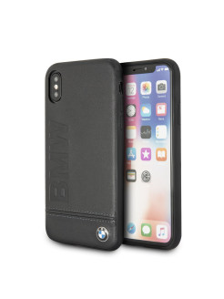 Чехол BMW для iPhone X Signature Logo imprint Hard Leather, Black BMW