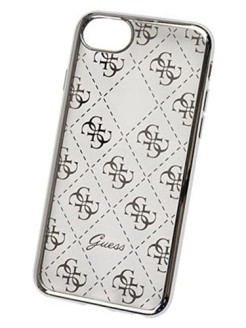 Чехол Guess для iPhone 7/8 4G Transparent Hard TPU Silver GUESS