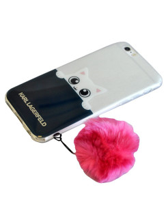 Чехол Lagerfeld для iPhone 6/6S K-Peek A Boo Hard Transparent TPU Navy/Pink Karl Lagerfeld