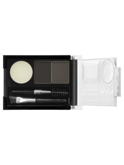 Тени для бровей. EYEBROW CAKE POWDER - BLACK/ GRAY 01 NYX PROFESSIONAL MAKEUP