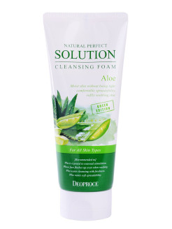 Пенка для умывания алоэ NATURAL PERFECT SOLUTION CLEANSING FOAM GREEN EDITION ALOE 170гр DEOPROCE
