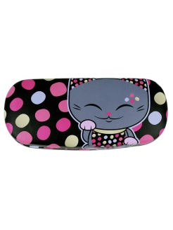 "Case for glasses ""Good Luck Puss"". MF065 code MANI the Lucky Cat"