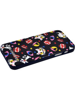 Lagerfeld iPhone 5S/SE Monster Choupette Hard TPU Print Blue Karl Lagerfeld