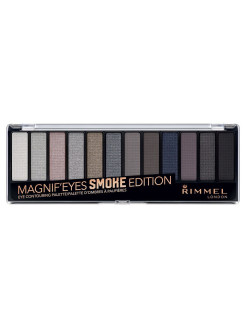 Палетка из 12 оттенков для век Magnifeyes Palette, тон 003 Smoke Edition Rimmel