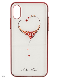 Чехол с Swarovski Kingxbar Wish Series для iPhone X Серебро Kingxbar