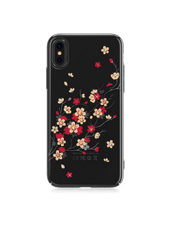 Чехол с Swarovski Kingxbar Phoenix Series для iPhone X Sakura Black Kingxbar