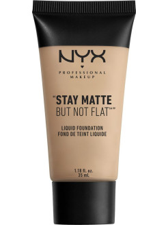 Матирующая тональная основа. STAY MATTE NOT FLAT LIQUID FOUNDATION - NUDE BEIGE 017 NYX PROFESSIONAL MAKEUP