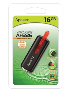 Флэш-диск AH326 16Gb Black Apacer