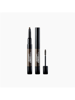 Скульптурирующий карандаш и тушь для бровей Top Brow Brunette, 1 Х 0,22 гр. 1 Х 3,5 мл. KISS NEW YORK