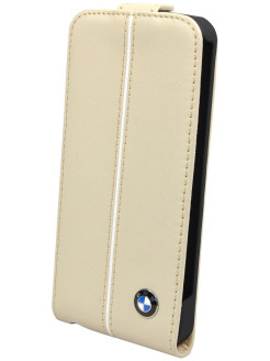 Чехол BMW для iPhone 5S/SE Signature Flip Cream BMW