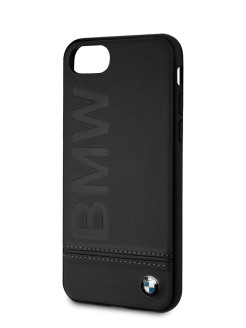 Чехол BMW для iPhone 7/8 Signature Logo imprint Hard Leather Black BMW