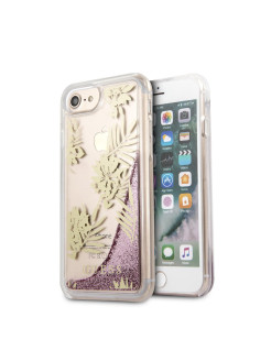 Чехол Guess для iPhone 7/8 Glitter Palm spring Hard PC Pink rose GUESS
