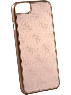 Чехол Guess для iPhone 7/8 4G Aluminium plate Hard Rose gold GUESS